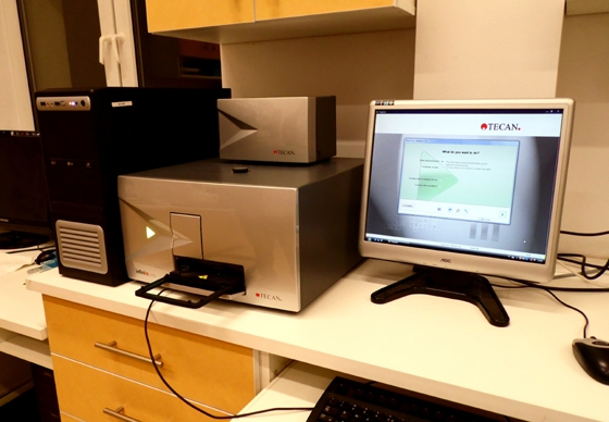 Microplate Reader (Tecan Infinite F200) for absorbance, luminescence and fluorescence detection
